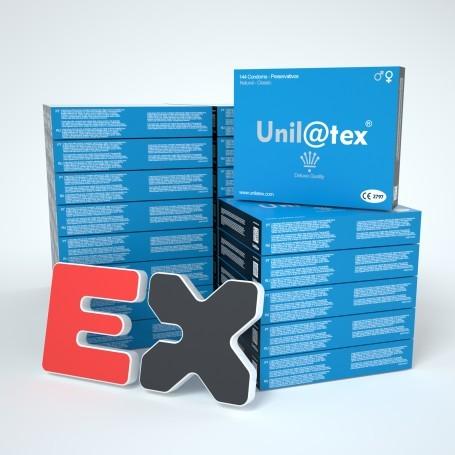 25 BOXES OF 144 NATURAL CONDOMS UNILATEX