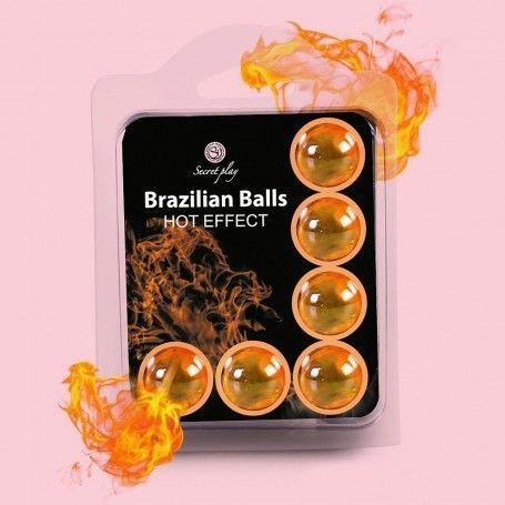 BOLAS LUBRICANTES BRAZILIAN BALLS EFECTO CALOR 6 x 4GR