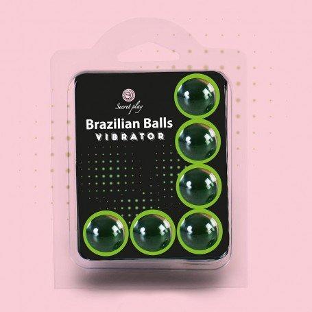 BOLAS LUBRIFICANTES BRAZILIAN BALLS SHOCK EFEITO VIBRADOR 6 x 4GR