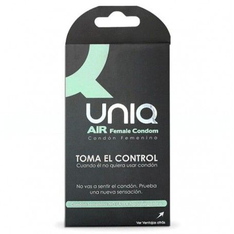 CONDOMS   UNIQ AIR FEMALE CONDOM 3 UNITS Prazer 24 ®
